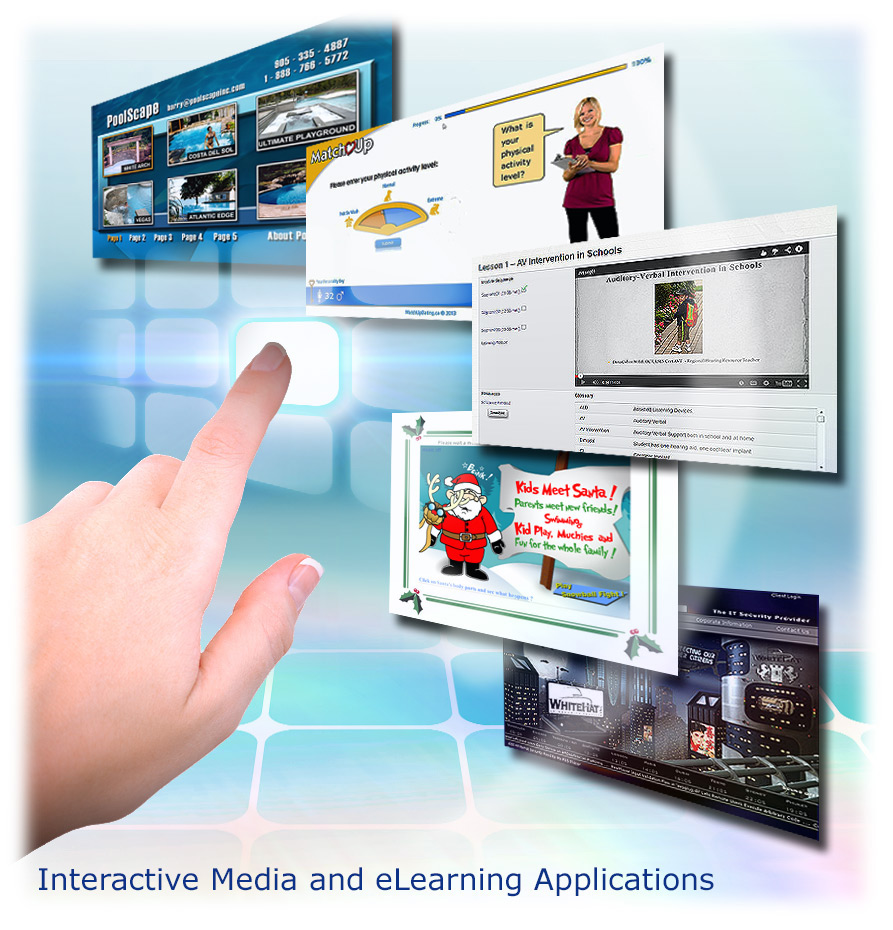 Interactive sales tools, eLearning module design, Flash game design